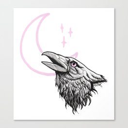 Muninn (Night Crow) Canvas Print