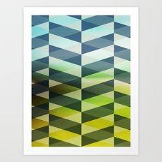 Herring Greens And Blues Art Print