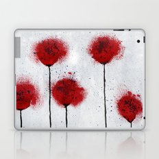 Red Wildflowers Laptop & iPad Skin