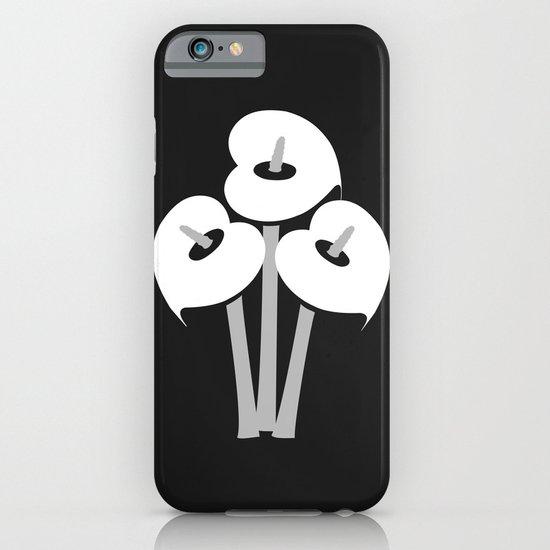 Calla Lily Bouquet (B&W) iPhone & iPod Case