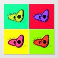 avocado Canvas Prints featuring Avocado  by Scout Garbaczewski