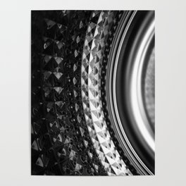 Shimmering textures of laundry machine drum -- Everyday art Poster