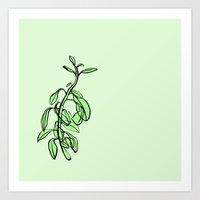 plant Art Prints featuring Plant by Maria Nordtveit