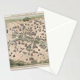 NOUVEAU PARIS MONUMENTAL Itinéraire pratique de l'étranger dans Paris Stationery Cards