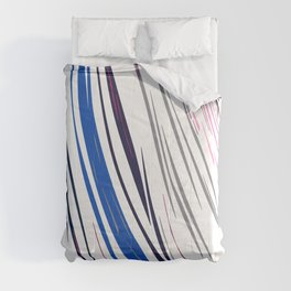 Design lines blue on white Comforters