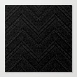 Tipi's (Black) Canvas Print