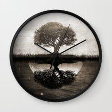The lone Night reflex Wall Clock
