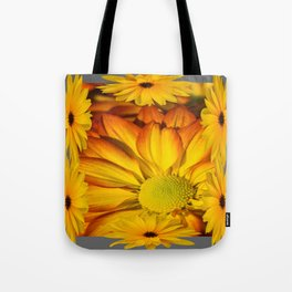 GOLDEN YELLOW SUNFLOWERS ART Tote Bag
