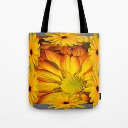GOLDEN YELLOW SUNFLOWERS ART Tote Bag