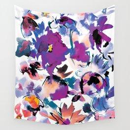 Sara Floral Blue Wall Tapestry