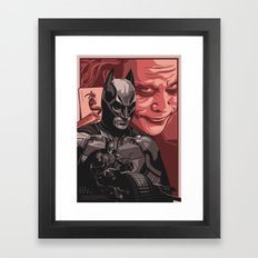 The Knight & The Clown - Movie Poster Framed Art Print