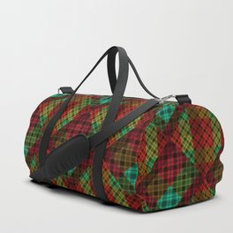 Turquoise red plaid Duffle Bag