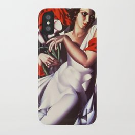 Classical Masterpiece 'Portrait D'ira' by Tamara de Lempicka iPhone Case