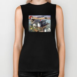 Beyond the Sea - Spirited Away / Ponyo Tsunami Series Biker Tank