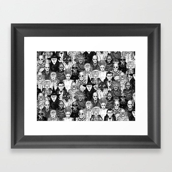 Horror Film Monsters Gerahmter Kunstdruck
