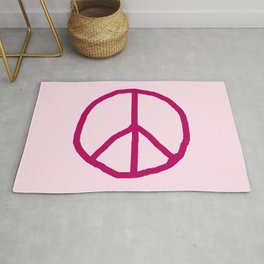 Peace and love 7 - pink Rug