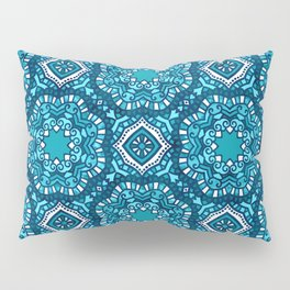 Moroccan Tile Pattern - Turquoise Pillow Sham