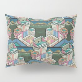 Liquorice allsorts 3D collage in Leather & Suede Edit Pillow Sham
