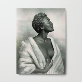 African American Masterpiece 'Joyce Bryant' The Voice You Will Always Remember portrait painting Metal Print