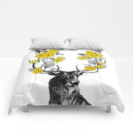 The Stag and Roses | Yellow Comforters