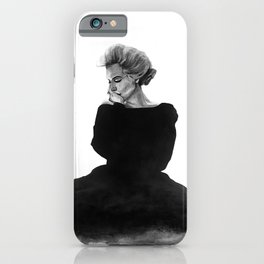 A sex symbol / Marilyn in Black iPhone Case