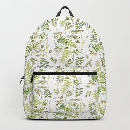 forest , pine tree, plants , green Backpack