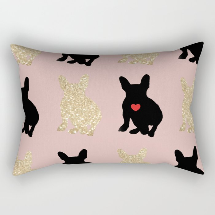 Dazzling French Bulldogs Rectangular Pillow