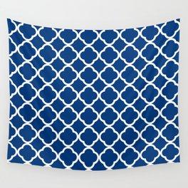 Royal Blue Quatrefoil Wall Tapestry