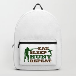 Eat Sleep Hunt Repeat Funny Gift For Hunters Backpack