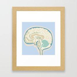 Map of Brain Framed Art Print