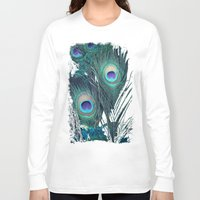 peacock Long Sleeve T-shirts featuring Peacock by KunstFabrik_StaticMovement Manu Jobst