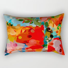 color bubble storm Rectangular Pillow