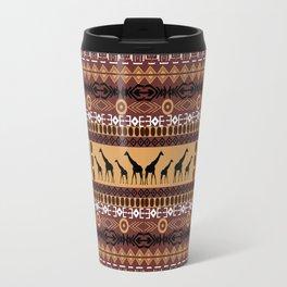 African Giraffe Pattern Travel Mug