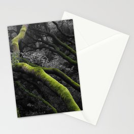 Mossy Bay Trees in Selective Black and White Stationery Cards