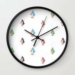 Colorful Birds Pattern Wall Clock