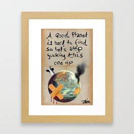 PLANET E Framed Art Print
