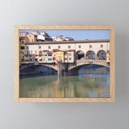 Kayaking Under Ponte Vecchio Framed Mini Art Print