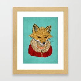 Sophisticated Fox Art Print Framed Art Print