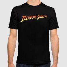 Illinois Smith Mens Fitted Tee MEDIUM Black