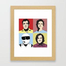 Top Gear Team Pop Art Framed Art Print