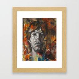 Mick.Jagger.Abstract Framed Art Print