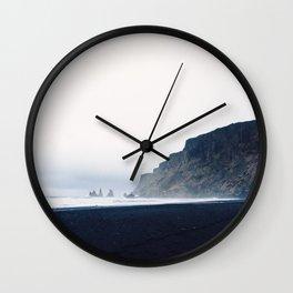 Vik Black Sand Beach, Iceland Wall Clock