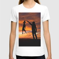 workout T-shirts featuring Sunset Workout by Sandy Broenimann