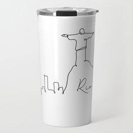 Pen line silhouette Rio de Janeiro Travel Mug