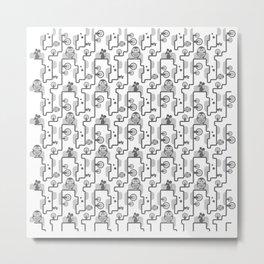 OWLvMOUSE Metal Print