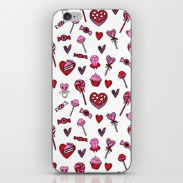 Valentines candy hearts chocolates love gifts for sweetheart iPhone Skin