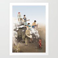boys Art Prints featuring Boys by Andrew Sutherland