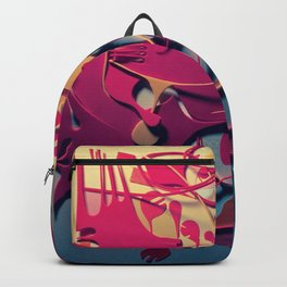 Synthesis- Abstract Mixed Media Collage Backpack