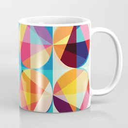 Beautiful colors Geometry, geometric abstract triangles circles squares Coffee Mug