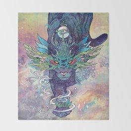Spectral Cat Throw Blanket